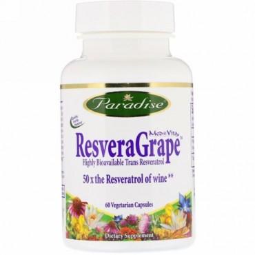 Paradise Herbs, MedVita, ResveraGrape, 60 Vegetarian Capsules