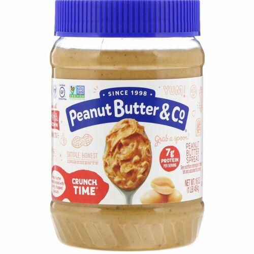 Peanut Butter & Co., クランチ タイム、ピーナッツバター スプレッド、16 oz (454 g)
