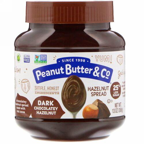 Peanut Butter & Co., ヘーゼルナッツスプレッド, ダークチョコレートヘーゼルナッツ, 369g(13 oz)