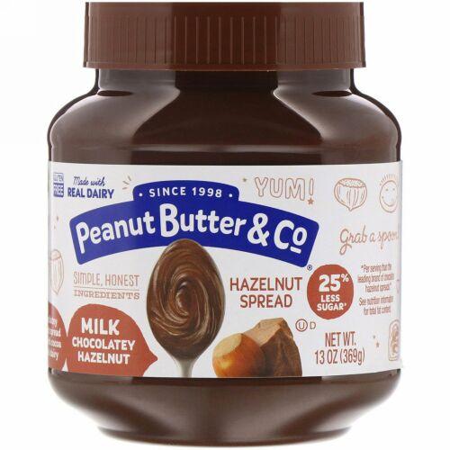 Peanut Butter & Co., ヘーゼルナッツスプレッド、ミルクチョコレートヘーゼルナッツ、13 oz (369 g)