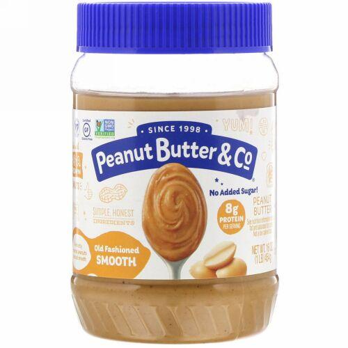 Peanut Butter & Co., オールドファッションドスムース、ピーナッツバター、454 g(16 oz)