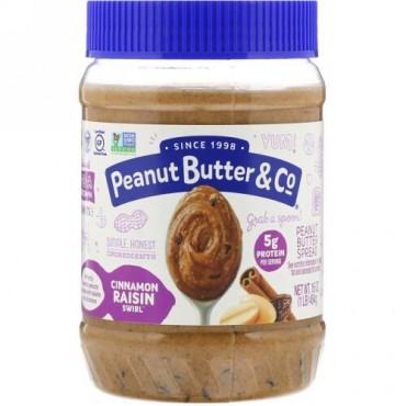 Peanut Butter & Co., Peanut Butter Blended, Cinnamon Raisin Swirl, 16 oz (454 g)
