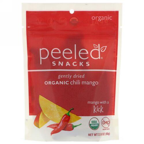 Peeled Snacks, Gently Dried Organic Chili Mango, 2.8 oz (80 g) (Discontinued Item)