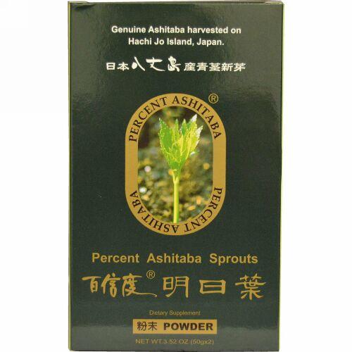 Percent Ashitaba,  明日葉パウダー、 3.52 オンス (50 g x 2)