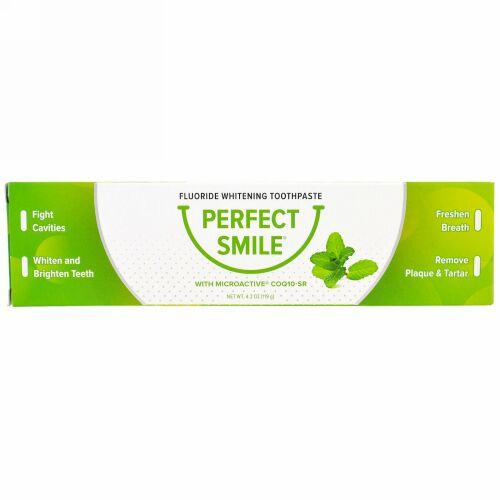 Perfect Smile, CoQ10-SR入りフッ化物ホワイトニングトゥースペースト、4.2オンス (119 g) (Discontinued Item)