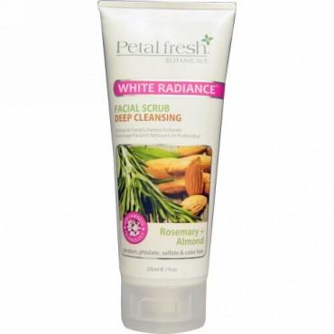 Petal Fresh, Botanicals, ホワイトラディアンス・フェイシャルクレイマスク、ロズマリ―+アーモンド、7液量オンス(200 ml) (Discontinued Item)