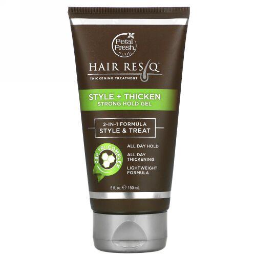 Petal Fresh, ヘアResQ、髪をふっくらさせるトリートメント、スタイル + ふっくら&ホールドジェル、5 fl oz (150 ml)