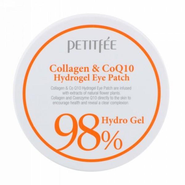 Petitfee, コラーゲン & CoQ10ハイドロジェルアイパッチ、60パッチ、各1.4 g