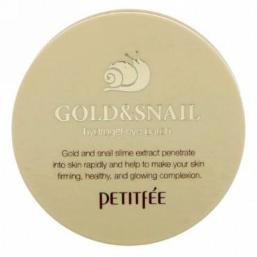 Petitfee, ゴールド & スネイル ハイドロジェル アイ パッチ、60ピース