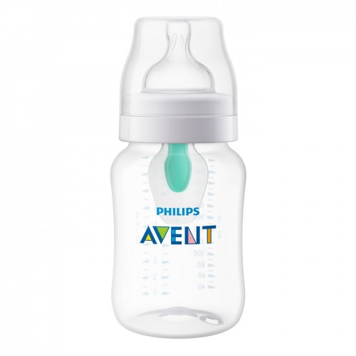 Philips Avent, Anti-Colic Bottle with AntiFree Vent, 1+ Months, 1 Bottle, 9 oz (Discontinued Item)