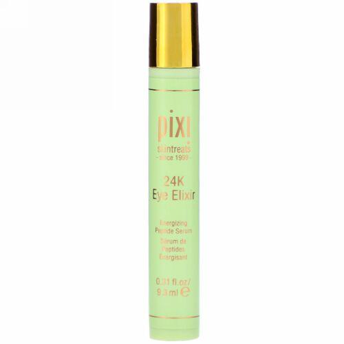 Pixi Beauty, 24K アイ・エリクシール  ゴールド&コラーゲン配合、活性ペプチドセラム、.31液量オンス (9.3 ml)