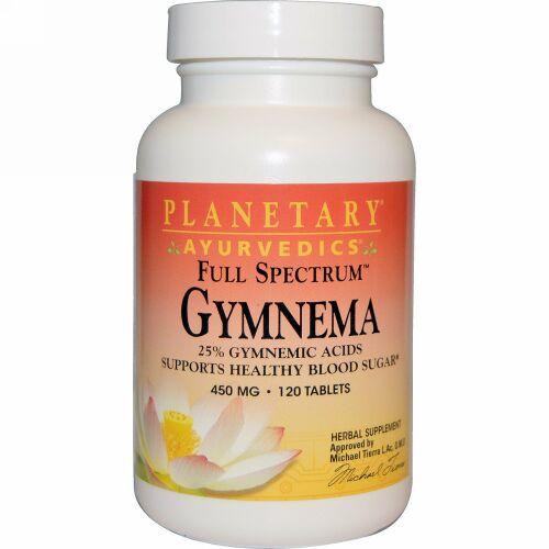 Planetary Herbals, アーユルヴェーダ、全機能、ギムネマ 450 mg, 120タブレット