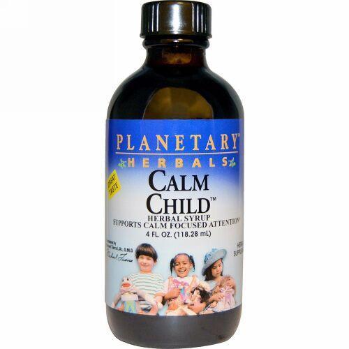 Planetary Herbals, Calm Child™(カーム チャイルド)、ハーブシロップ、4 液量オンス (118.28 ml)