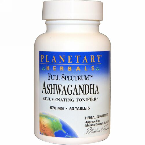 Planetary Herbals, Full Spectrum(フルスペクトル)アシュワガンダ、570mg、60粒