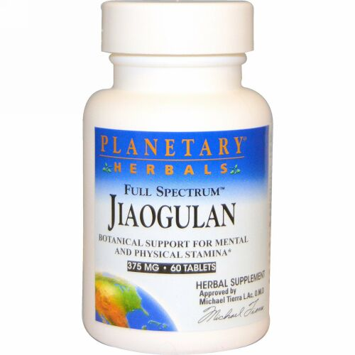 Planetary Herbals, フルスペクトラム™ アマチャヅル, 375 mg, 60 錠