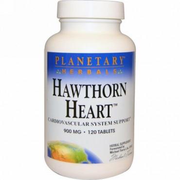 Planetary Herbals, ホーソンハート、 900 mg、 120タブレット