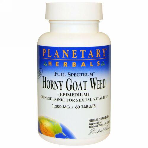 Planetary Herbals, ホーニーゴートウィード(イカリソウ属), フルスペクトラム, 1,200 mg, 60錠