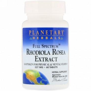 Planetary Herbals, イワベンケイエキス、フルスペクトラム、327mg、60錠