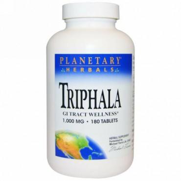 Planetary Herbals, トリファラ(Triphala), 消化管の健康, 1,000 mg, 180錠