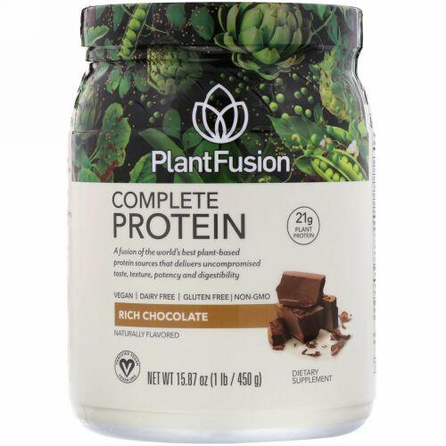 PlantFusion, コンプリートプロテイン、リッチチョコレート、1 lb (450 g)