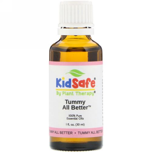 Plant Therapy, KidSafe, 100% Pure Essential Oil, Tummy All Better, 1 fl oz (30 ml) (Discontinued Item)