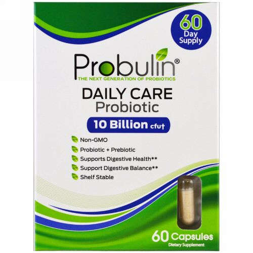 Probulin, デイリーケア、プロバイオティック、60カプセル (Discontinued Item)