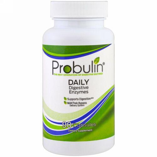 Probulin, デイリーダイジェスティブエンザイム、90カプセル (Discontinued Item)