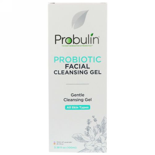 Probulin, プロバイオティクス・フェイシャルクレンジングジェル、3.38 fl oz (100 ml) (Discontinued Item)
