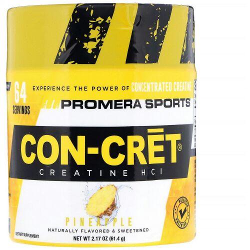 Promera Sports, Con-CretクレアチンHCl、パイナップル、2.17 oz (61.4 g) (Discontinued Item)