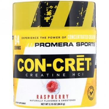 Promera Sports, Con-CretクレアチンHCl、ラズベリー、2.15 oz (60.8 g) (Discontinued Item)