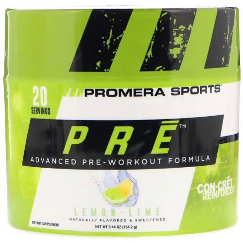 Promera Sports, PRE、プレワークアウト最先端処方、レモンライム、5.44 oz (154.2 g) (Discontinued Item)