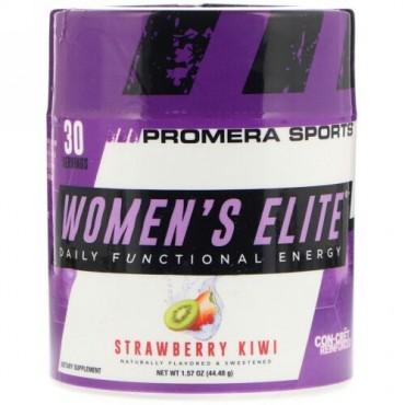 Promera Sports, Women's Elite、デイリーファンクショナルエネルギー、ストロベリーキウイ、1.57オンス (44.48 g) (Discontinued Item)