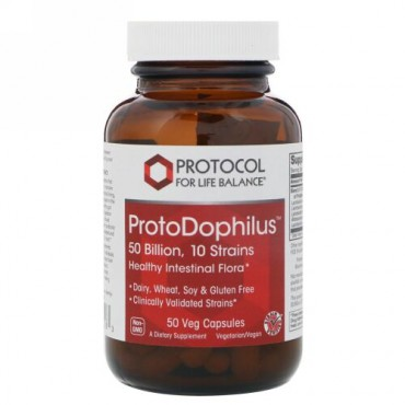 Protocol for Life Balance, ProtoDophilus、500億、10菌株、50ベジカプセル (Discontinued Item)