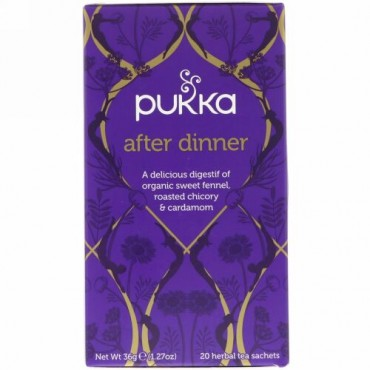Pukka Herbs, アフターディナー、ハーブティー20袋、1.27 oz (36 g)