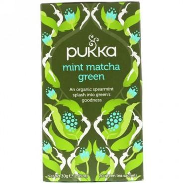 Pukka Herbs, ミント抹茶ティー、20袋、1.05 oz (30 g)