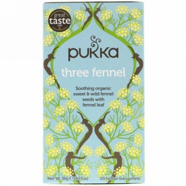 Pukka Herbs, スリーフェンネル、ハーブティー20袋、1.27 oz (36 g)