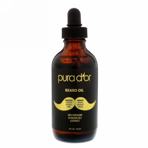 Pura D'or, 髭用オイル、4 fl oz (118 ml) (Discontinued Item)
