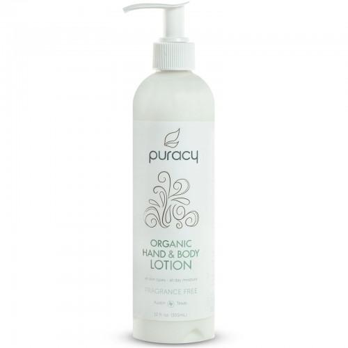 Puracy, Organic Hand & Body Lotion, Fragrance Free, 12 fl oz (355 ml) (Discontinued Item)