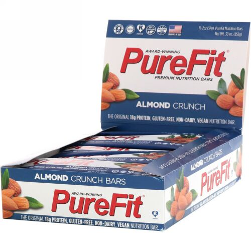 PureFit Bars, プレミアム栄養バー、アーモンドクランチ、15本、2オンス(57 g) (Discontinued Item)