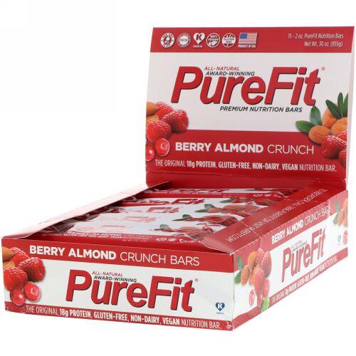 PureFit Bars, プレミアム栄養バー、ベリーアーモンドクランチ、15本、2オンス(57 g) (Discontinued Item)