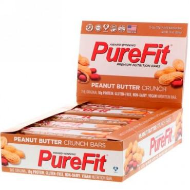 PureFit Bars, プレミアム栄養バー、ピーナッツバタークランチ、15本、2オンス(57 g) (Discontinued Item)