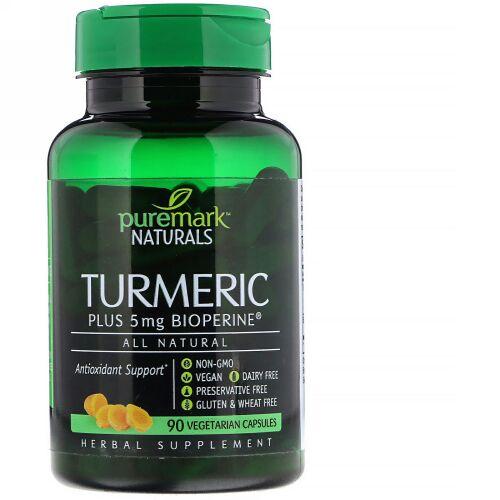 PureMark Naturals, ウコン、ベジタリアンカプセル90錠