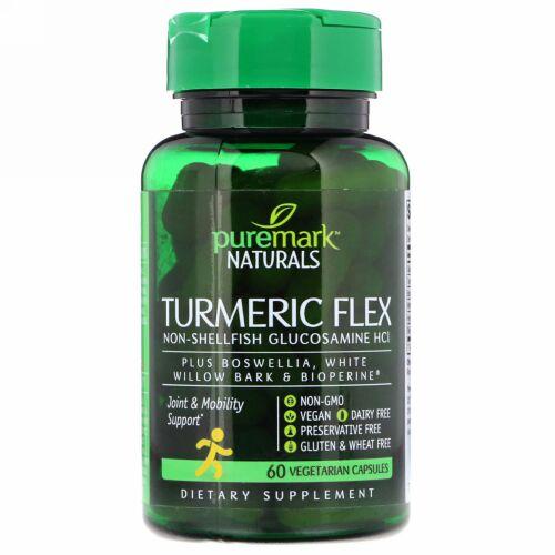 PureMark Naturals, ターメリックフレックス、植物性カプセル60錠 (Discontinued Item)