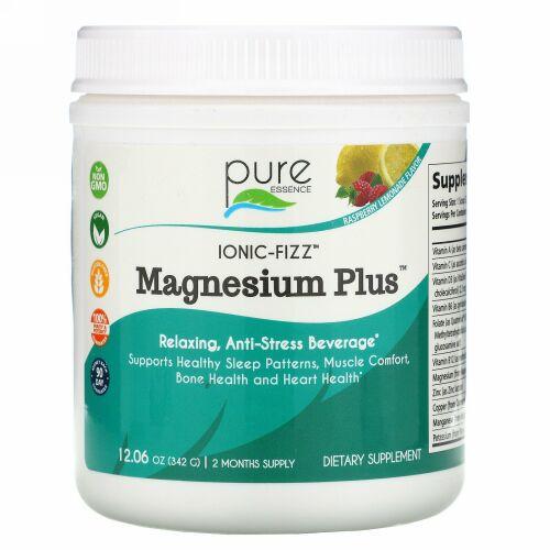 Pure Essence, Ionic-Fizz(イオニックフィズ)、Magnesium Plus(マグネシウムプラス)、ラズベリーレモネード、342g(12.06オンス)