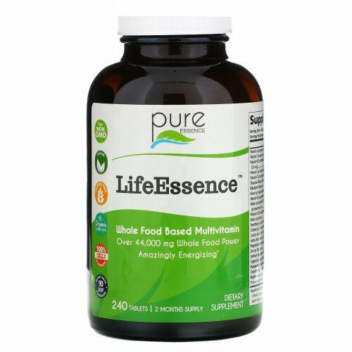 Pure Essence, LifeEssence(ライフエッセンス)、自然食品ベースのマルチビタミン、240粒