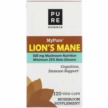 Pure Essence, MyPure、ライオンのたてがみ、ベジカプセル120個 (Discontinued Item)