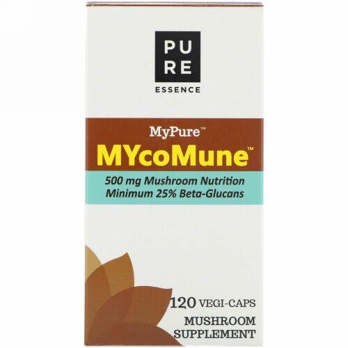 Pure Essence, MyPure、MYcoMune(マイ・コ・ミューン)、ベジカプセル120個 (Discontinued Item)