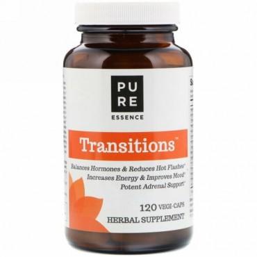 Pure Essence, Transitions, Menopause Support, 120 Vegi-Caps