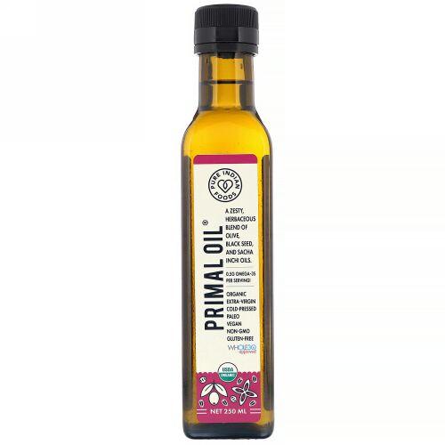 Pure Indian Foods, オーガニックコールドプレスエキストラヴァージンプライマルオイル、250ml (Discontinued Item)
