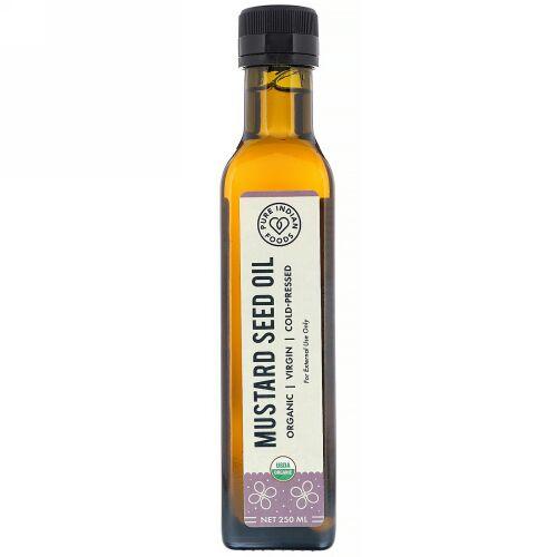 Pure Indian Foods, オーガニックコールドプレス ヴァージンマスタードシードオイル、250ml